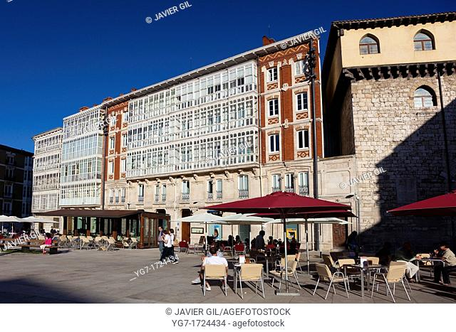 King San Fernando square, Burgos, Castilla y Leon, Spain