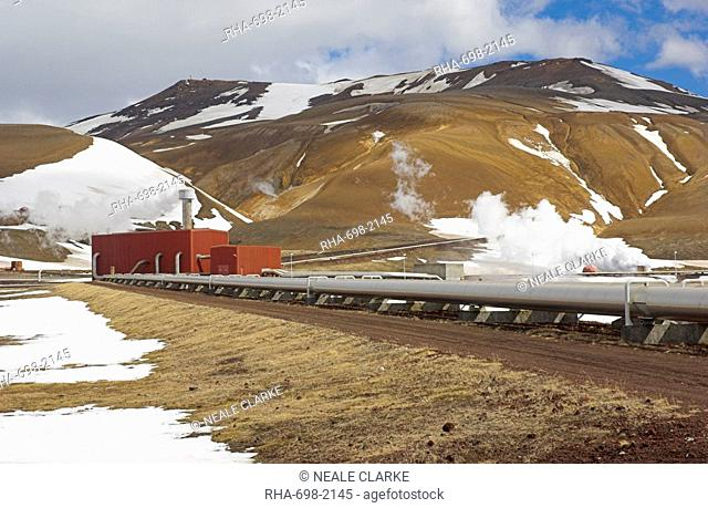 Krafla geothermal power station, Kroflustod, near Lake Myvatn, North area, Iceland, Polar Regions