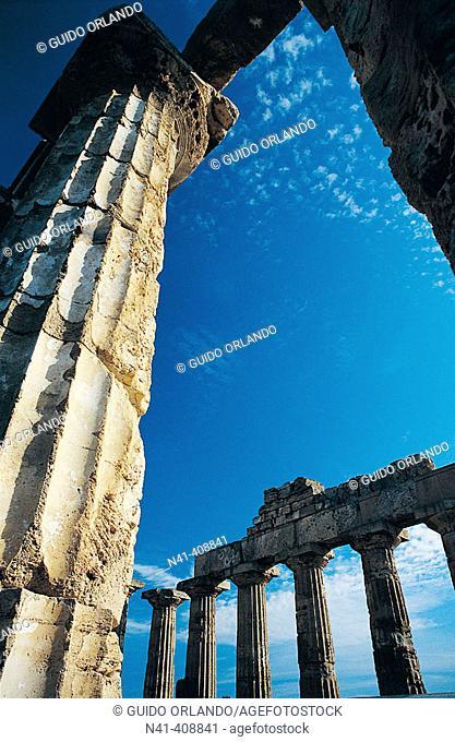 Temple, Greek ruins of Selinus, Selinunte. Sicily, Italy