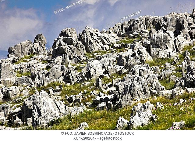 Lapiaz en el Valle de Añisclo. Sobrarbe. Pirineo Aragonés. Provincia de Huesca. España. Europa
