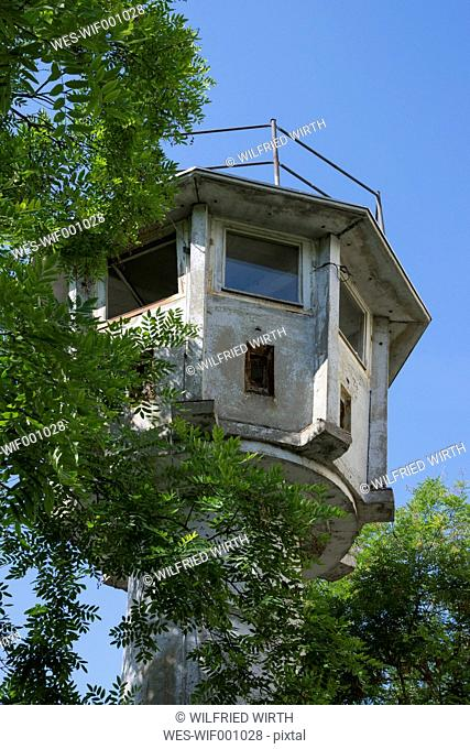 Germany, Berlin, Watchtower of the former GDR at Potsdam Square