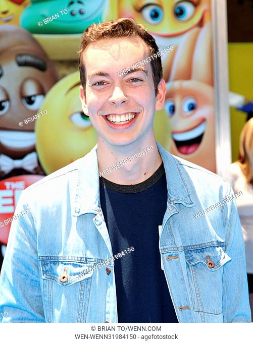 "Celebrities attend The World Premiere of ""THE EMOJI MOVIE"" at Regency Village Theatre in Westwood. Featuring: Parker Coppins Where: Los Angeles, California"