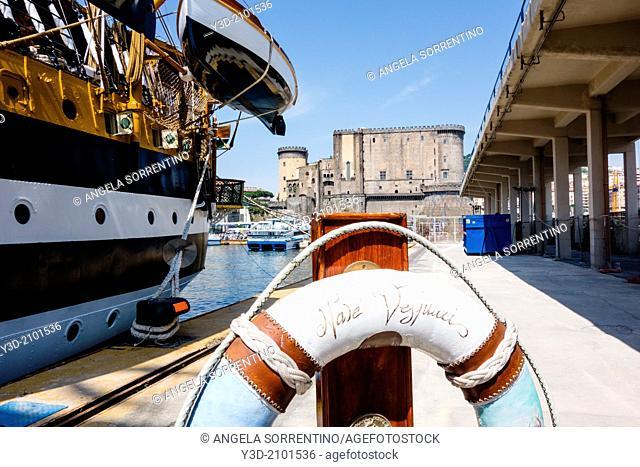 Amerigo Vespucci ship at Naples harbor