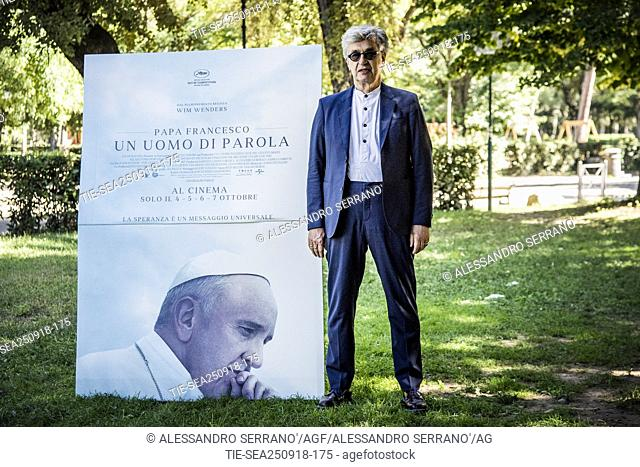 Director Wim Wenders presents his film Pope Francis: A Man of His Word . Rome, Italy, 25 September 2018