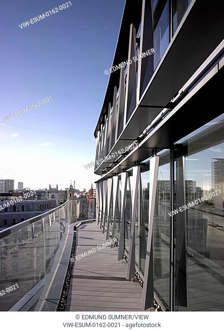 60 London at Holborn Viaduct, London, United Kingdom. Architect: Kohn Pedersen Fox Associates (KPF), 2014. Exterior View from terrace on upper level