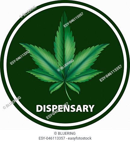 Icon design for dispensary illustration