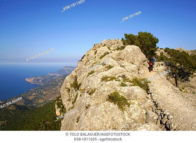 Archduke Way, Valldemossa, Long Distance Path GR 221, Sierra de Tramuntana Majorca Balearic Islands Spain