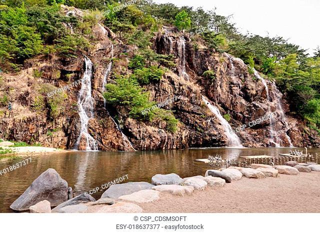 Waterfall In Public Park