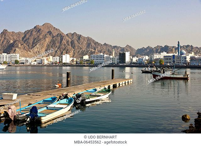 Arabia, Arabian peninsula, Sultanate of Oman, Muscat, Muttrah, Corniche, Al-Bahri-Road Luwatiya quarter