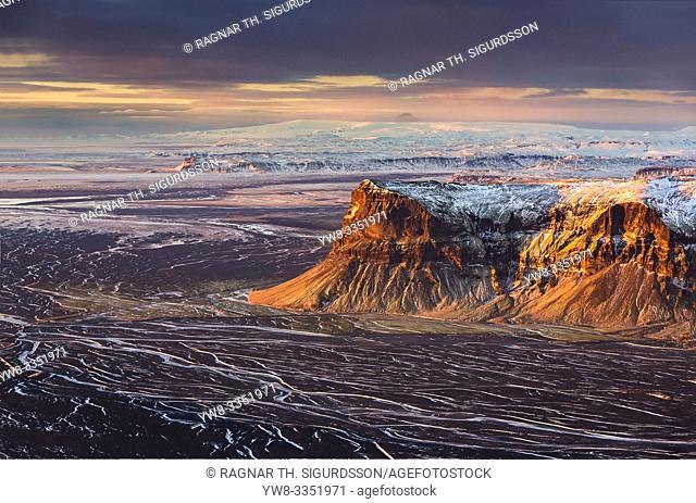 Arfarvegir Canyon, Mt. Lomagnupur, Vatnajokull National Park, Unesco World Heritage Site, Iceland