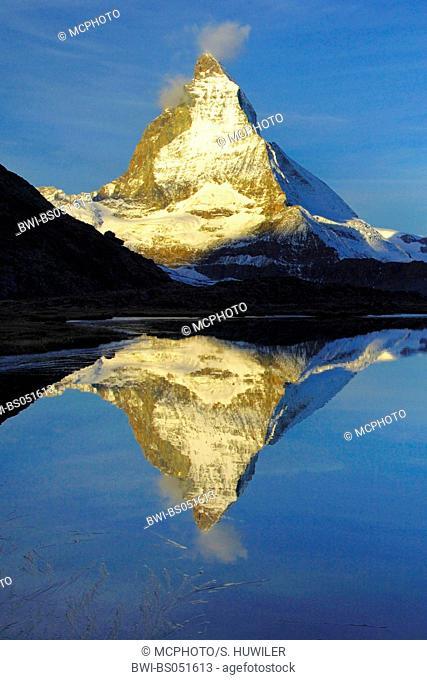 Matterhorn in evening light, Switzerland, Zermatt