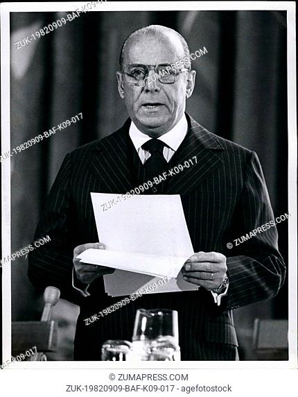 Sep. 09, 1982 - The President Of Brazil, Mr. Joao Baptista De Oliveira Figueiredo, Was First Speaker Opening The Debate Of The 37th Session Of The General...