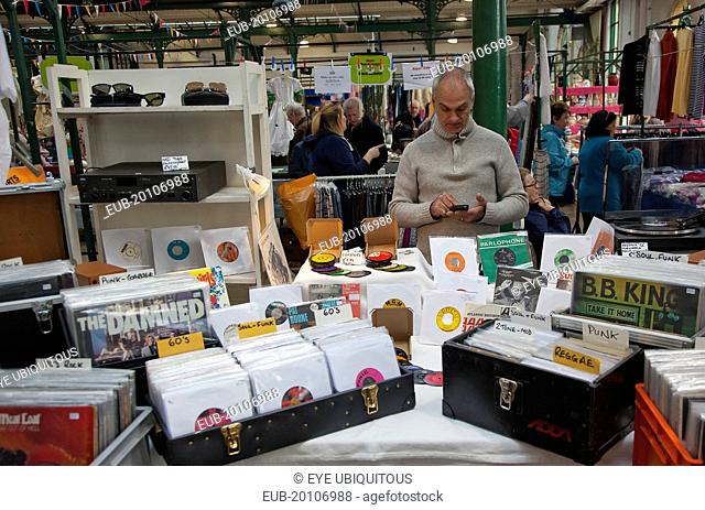 St Georges Market second hand record stall