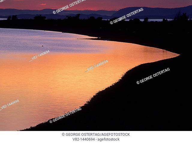 Drayton Harbor shoreline, Semiahmoo County Park, WA
