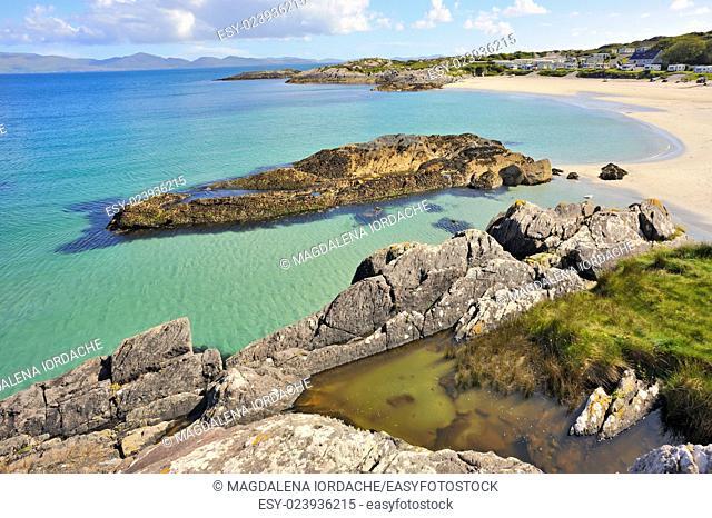 Beautiful beach landscape in Ireland
