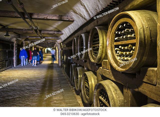 Georgia, Kakheti Area, Kvareli, Winery Khareba, 7. 7 kms of wine tunnels that store more than 25,000 bottles of their wine