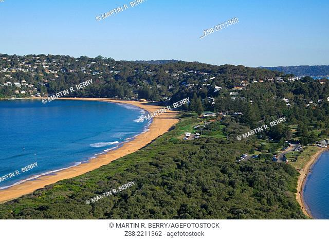 Barrenjoey Headland and view of Palm Beach,Pittwater. Sydney,NSW,Australia