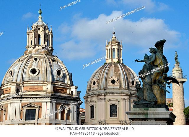 The churches 'Santa Maria di Loretto' and 'Santissimo Nome di Maria al Foro Traiano', a group of sculptures at the Monumento a Vittorio Emanuele II and the...