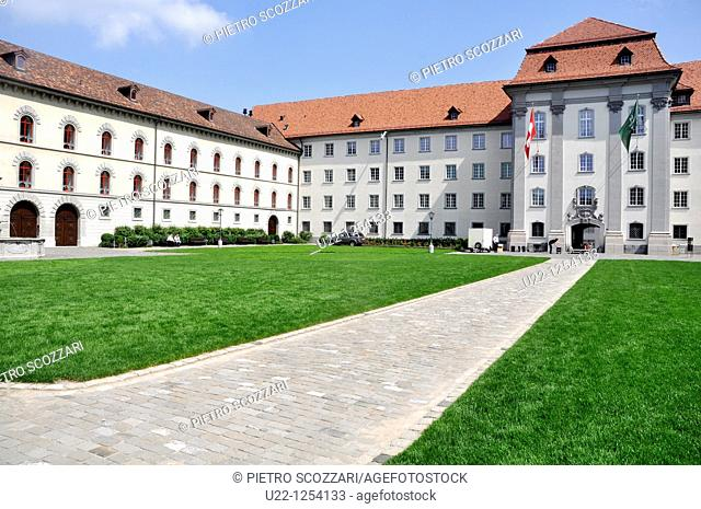 Sankt Gallen (Switzerland): the Abbey of Sankt Gallen cloister