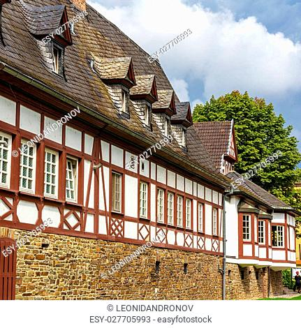 Traditional german helf-timbered house in Koblenz