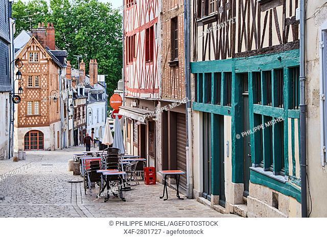 France, Loiret, Orleans, rue de la Poterne