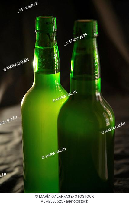 Two bottles of cider