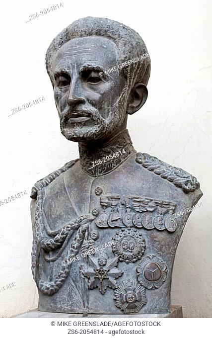 Bronze bust of Emperor Haile Selassie, National Museum, Addis Ababa