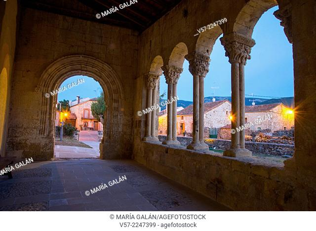 View from the Romanesque church at night. Sotosalbos, Segovia province, Castilla Leon, Spain