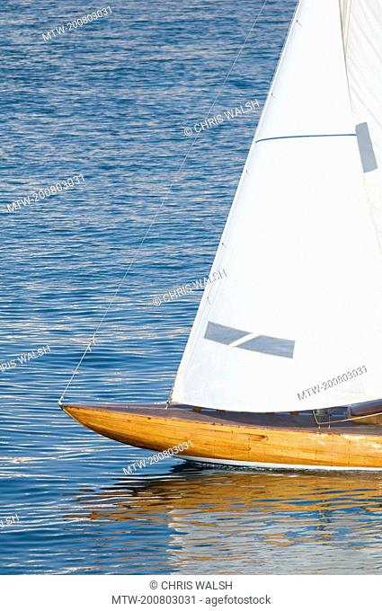 Sailing boat sail Yacht water old wooden