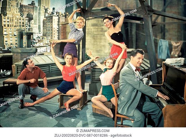 1951, Film Title: TWO TICKETS TO BROADWAY, Director: JAMES V KERN, Pictured: EDDIE BRACKEN, GLORIA DeHAVEN, ENSEMBLE, JAMES V KERN, BARBARA LAWRENCE