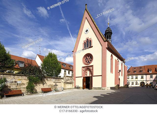 Bamberg, D-Bamberg, Regnitz, Main-Danube Canal, Upper Franconia, Franconia, Bavaria, catholic church Saint Elisabeth, former Spital church