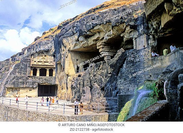 Hindu cave. Ellora, near Aurangabad, Maharashtra state, India