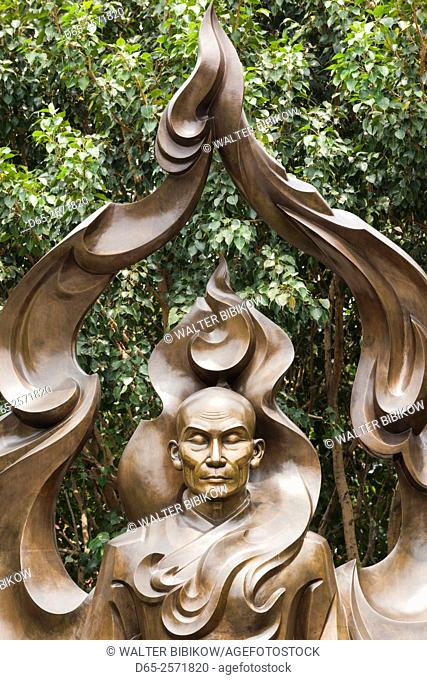 Vietnam, Ho Chi Minh City, Venerable Thich Quang Duc Memorial, monument to Buddhist monk who died by Self Imolation in 1963 protesting policies of former South...
