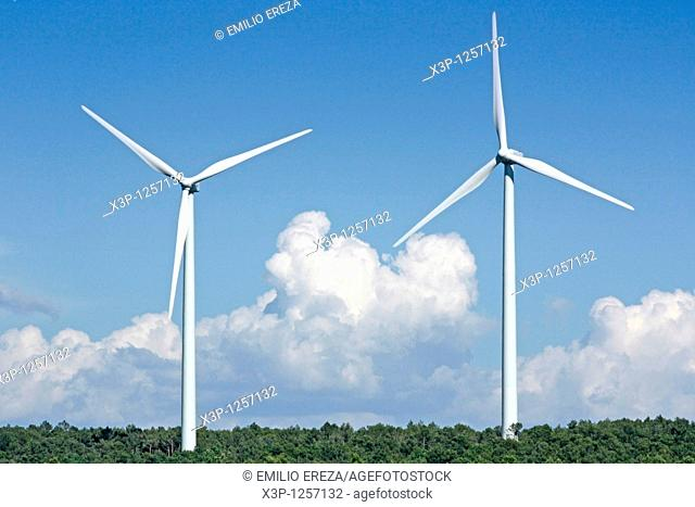 Windmills  Fulleda, Lleida, Catalonia, Spain