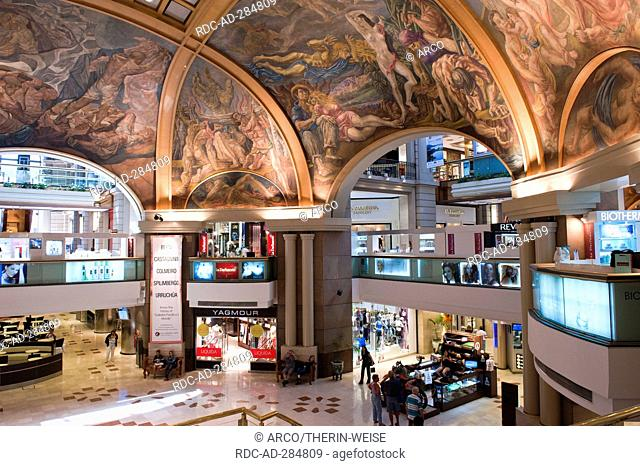Galerias Pacifico, Pacific gallery, painted vaulted ceiling, Buenos Aires, Argentina