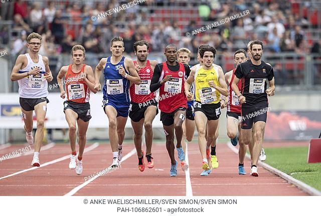 left to right ABELE Lukas (Hanau-Rodenbach SSC), MENZEL Rene (Hanover Athletics), HEINRICH Marvin (Wiesbadener LV), KUK Viktor (LG Braunschweig), Homiyu TESFAYE