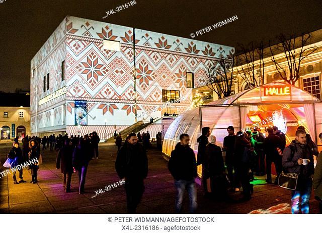 Museum Leopold, Halle, MQ, Musuemquartier, winter at MQ, Christmas Market in Vienna, Austria, Vienna