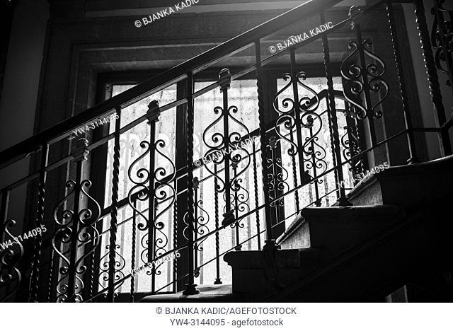 Wrought iron staircase balustrade, National Palace , Mexico City, Mexico
