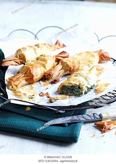 Spinach and ricotta pastries