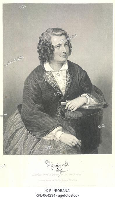 Eliza Cook 1818-1889. English poet. Portrait. Likeness from a photograph by John Watkins