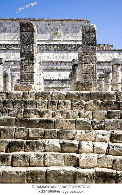Steps and columns, Chichen Itza, Yucatan, Mexico