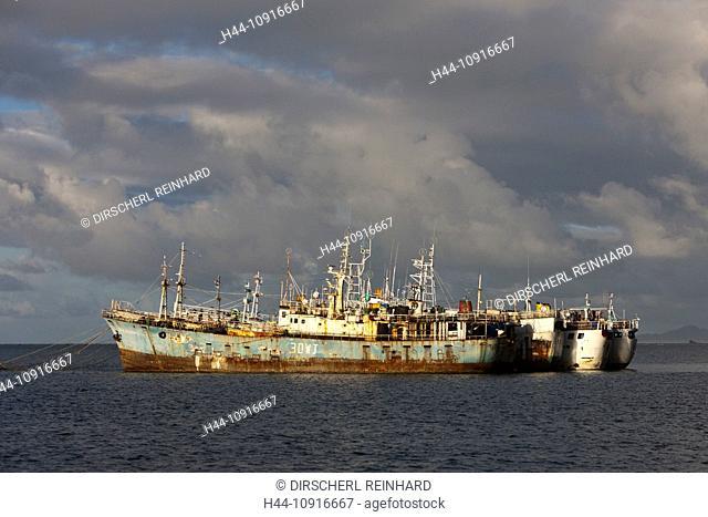 Cargo Boats, anchor, Beqa Lagoon, Viti Levu, Fiji, Boat, Boats, Ship, Ships, Vessel, Container Load, Cargo, economy, freight, handling, Costumes, consumption