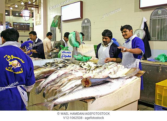 Fish Mongers,fish market, Kuwait City