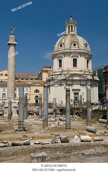 Church Santissimo Nome Di Maria, Trajan's Column, Rome, Lazio, Italy, Santissimo Nome di Maria al Foro Traiano, Colonna di Traiano
