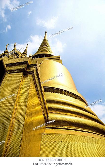 Golden Stupa in Temple Wat Phra Kaeo in Bangkok, Thailand