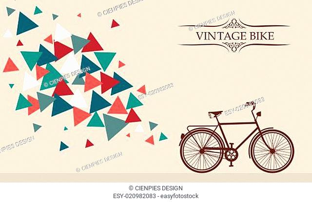 Retro hipster bicycle with geometric elements