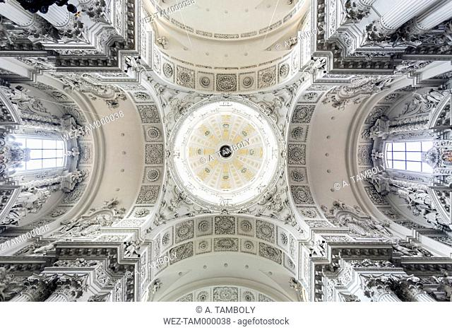 Germany, Bavaria, Munich, Theatine Church, domed ceiling