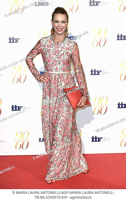 Yvonne Scio' during red carpet of 60/90 party, for 60 years of career and ninetieth birthday of Fulvio Lucisano, Italian Film Producer