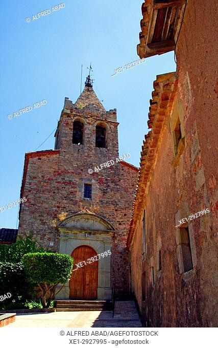 Church of Santa Maria, Vilanova de Sau, Osona, Catalonia, Spain