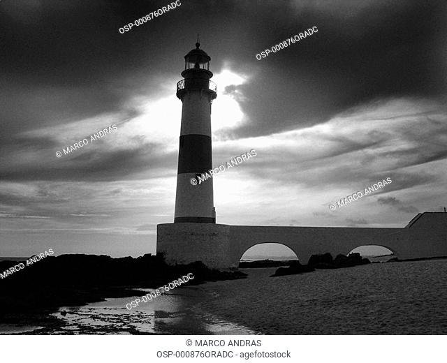 dark night falling at salavdor lighthouse